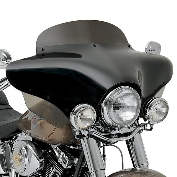 Polished Stainless Steel//Slotted Slim Memphis Shades Batwing Fairing Trim